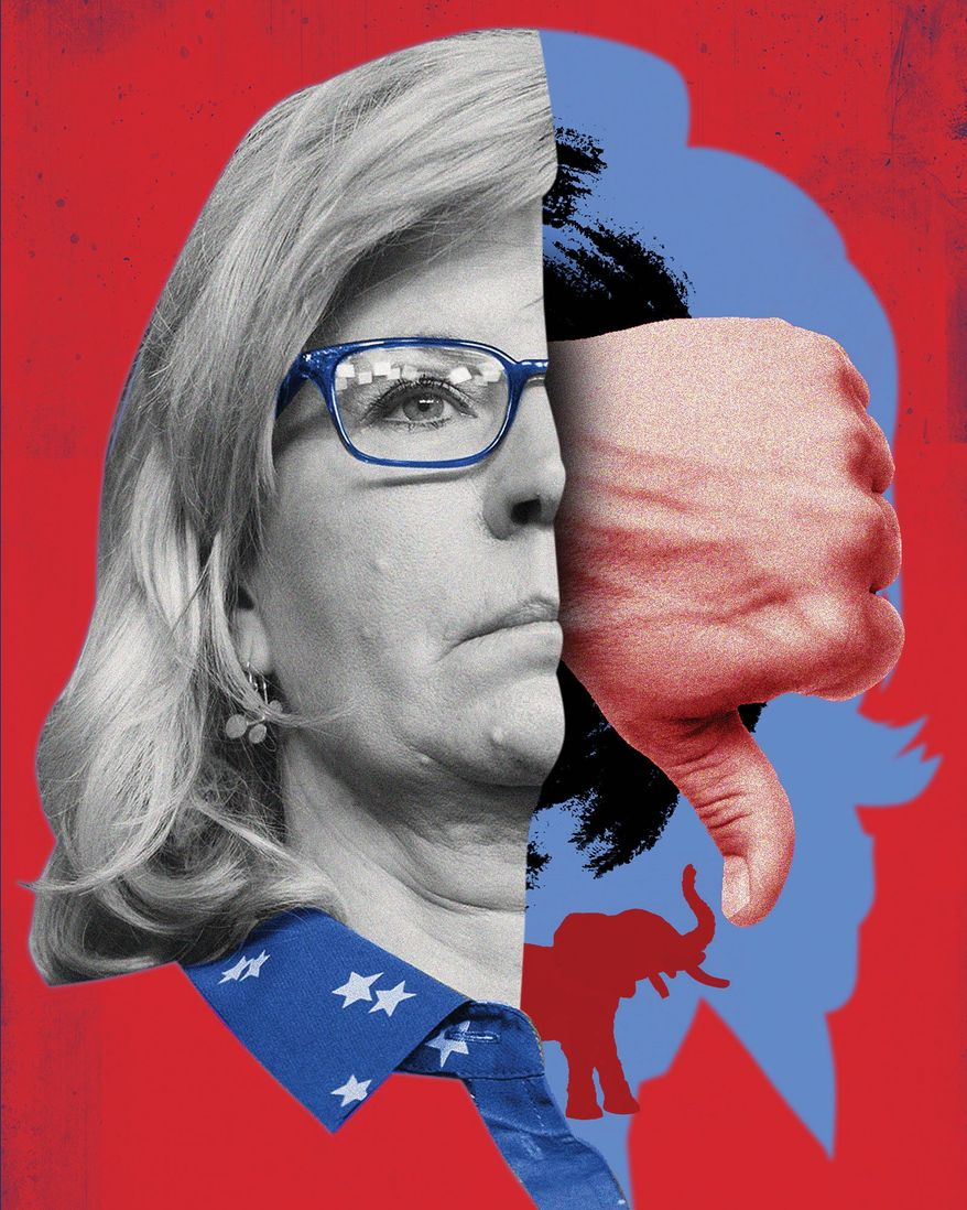 Liz Cheney shouldn't be in charge of messaging for 2022 election illustration by Linas Garsys / The Washington Times