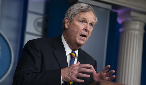 Agriculture Secretary Tom Vilsack speaks during a press briefing at the White House, Wednesday, May 5, 2021, in Washington. (AP Photo/Evan Vucci) ** FILE **