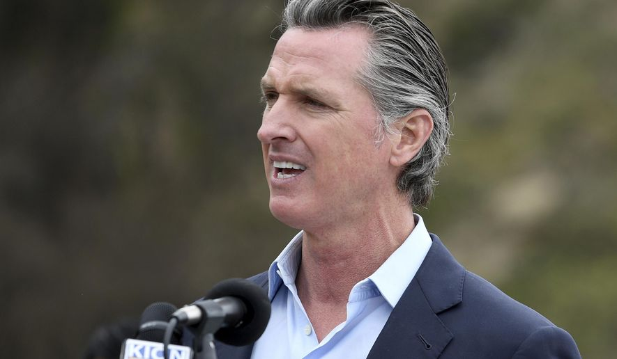 FILE - In this April 23, 2021, file photo, California Gov. Gavin Newsom speaks during a press conference in Big Sur, Calif. A California appeals court has upheld Newsom's emergency powers during the coronavirus pandemic. The 3rd District Court of Appeal in Sacramento ruled Wednesday, May 5, 2021, for the Democratic governor in a lawsuit brought by two Republican lawmakers. (AP Photo/Nic Coury, File)