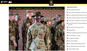 Screen capture taken May 6, 2021, from the website for the U.S. Army installation Fort Jackson, S.C. (https://home.army.mil/jackson/index.php/my-fort/newcomers)
