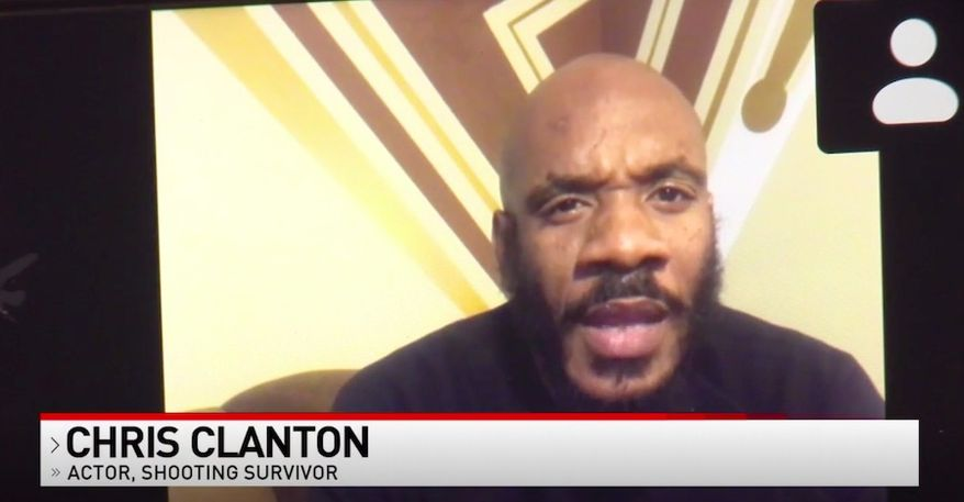 """Actor Chris Clanton, who starred as a gang member in the Baltimore-based hit TV series """"The Wire,"""" said """"something has to change"""" about the city's crime after he was shot on the street last week. (Screengrab via FOX 45)"""