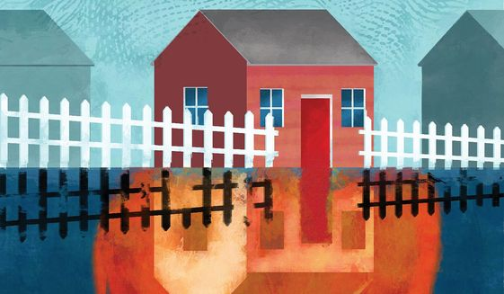 Suburban Middle-Class Reckoning Illustration by Linas Garsys/The Washington Times