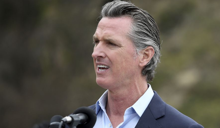 Gov. Gavin Newsom's administration says California's population decline is an outlier, blaming it on the coronavirus pandemic that turned everything upside down in 2020. (Associated Press)