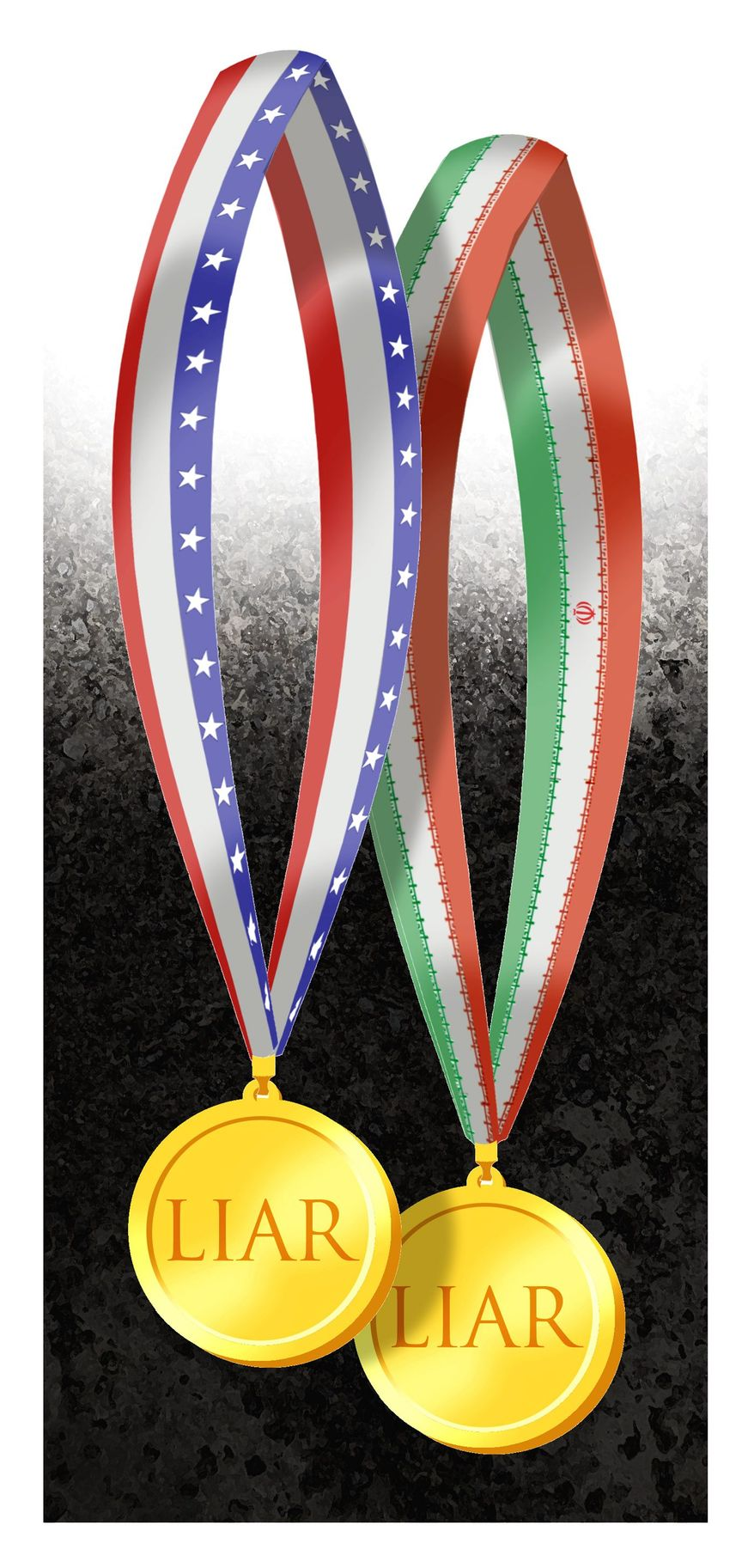 Illustration on the Kerry affair with Iran by Alexander Hunter/The Washington Times