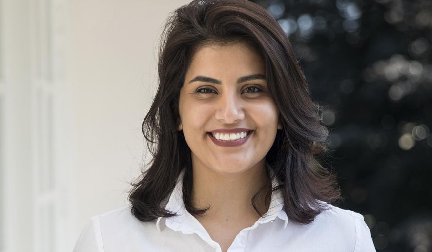 FILE - In this 2017 file photo, Loujain al-Hathloul poses for a photo in Amsterdam, the Netherlands. Al-Hathloul, a prominent Saudi women's rights activist, has been summoned for questioning by Saudi security three months after her release from prison, a relative said on Sunday, May 9, 2021. (Marieke Wijntjes via AP, File )