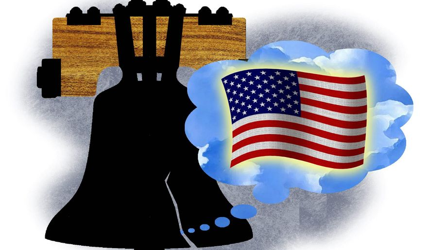 Illustration on the American Dream by Alexander Hunter/The Washington Times