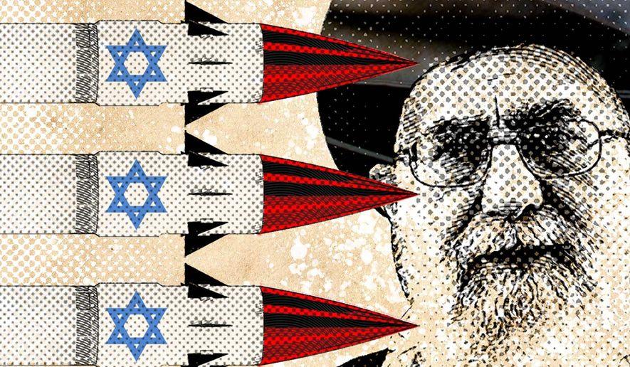Israel Eye on Iran Illustration by Greg Groesch/The Washington Times