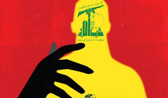 Hezbollah and its masters in Tehran and Lebanon illustration by Linas Garsys / The Washington Times