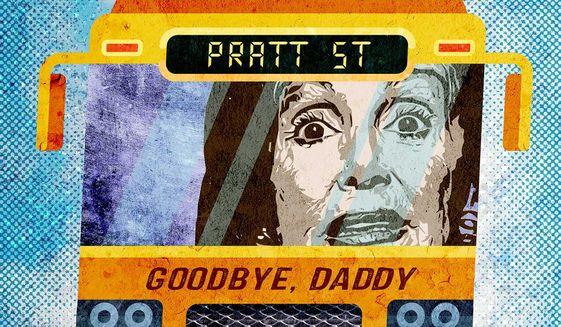 Nancy Pelosi's Bus Illustration by Greg Groesch/The Washington Times