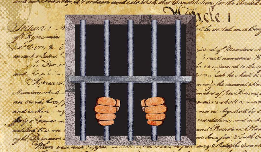 Alteration of Habeas Corpus, Federal Judges altering the Constitution Illustration by Greg Groesch/The Washington Times