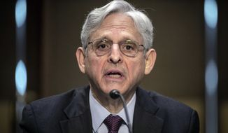 Attorney General Merrick Garland testifies before the Senate Appropriations committee hearing to examine domestic extremism, Wednesday, May 12, 2021 on Capitol Hill in Washington.  (Photo by Bill O'Leary/The Washington Post via AP, Pool)