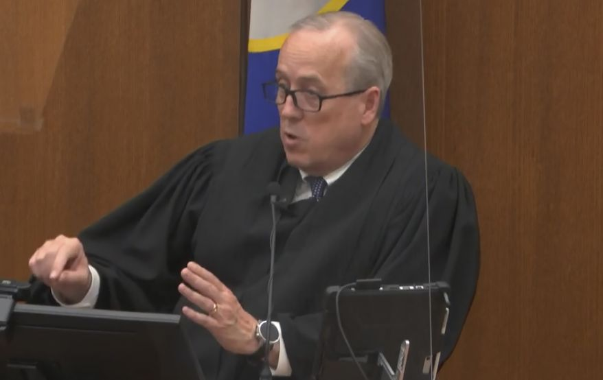In this April 19, 2021, file image from video, Hennepin County Judge Peter A. Cahill addresses the court after the judge put the trial into the hands of the jury, in the trial of Chauvin, in the May 25, 2020, death of George Floyd at the Hennepin County Courthouse in Minneapolis, Minn. In a ruling May 12, 2021, Judge Cahill finds aggravating factors in death of George Floyd, paving way for tougher sentence for Chauvin. (Court TV via AP, Pool)  **FILE**
