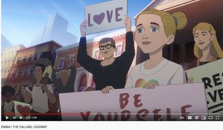 """A new recruitment ad from the U.S. Army's """"The Calling"""" series documents one woman's journey from an LGBT activist in her youth to the military ranks. The video has tallied over 330,000 views since its release on May 4, 2021. (Image: YouTube, U.S. Army, """"The Calling"""" recruitment ad)"""