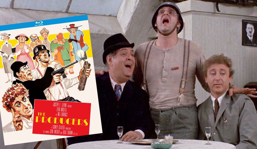 """Zero Mostel,  Kenneth Mars and Gene Wilder in """"The Producers: Special Edition,"""" now available on Blu-ray from Kino Lorber."""