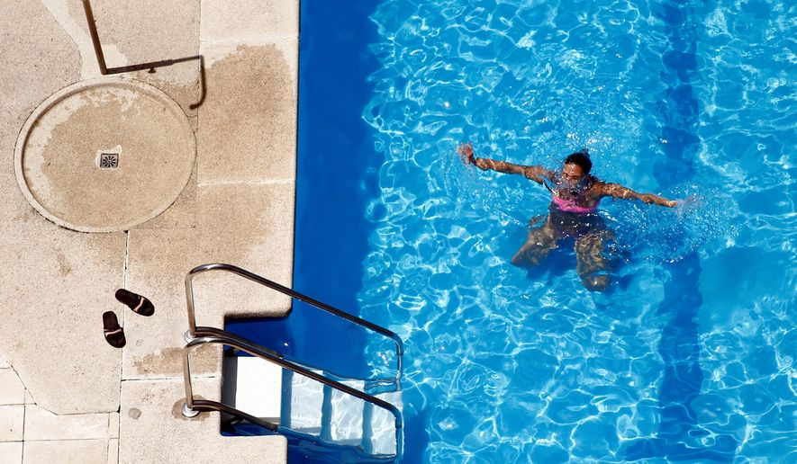 Demand for chlorine is high because many people installed pools last year. Supply for the disinfectant has also decreased because a key producer of chlorine burned down last year during a storm in Louisiana. (ASSOCIATED PRESS)