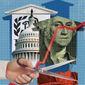 Punishing the Work Ethic Illustration by Linas Garsys/The Washington Times