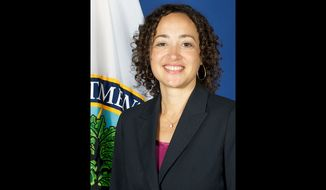 """At the moment, Catherine Lhamon is a deputy assistant to President Biden and the deputy director of the Domestic Policy Council for Racial Justice and Equity where she manages the president's """"equity policy portfolio,"""" according to the White House. (United States Department of Education) ** FILE **"""