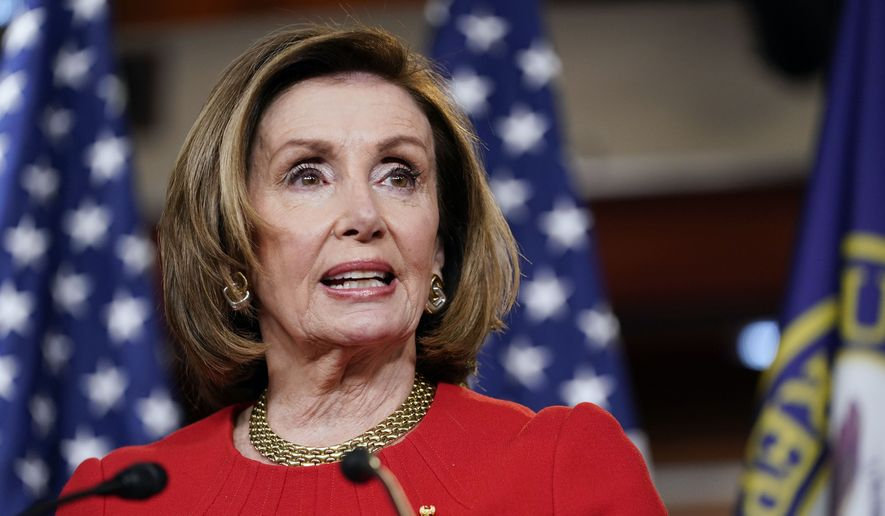 House Speaker Nancy Pelosi of Calif., speaks during a news conference on Capitol Hill in Washington, Thursday, May 13, 2021. (AP Photo/Susan Walsh) ** FILE **