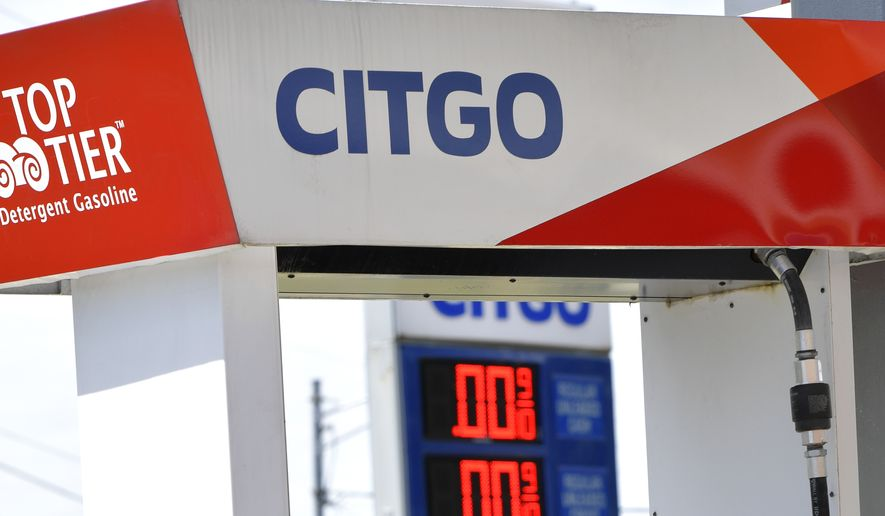 A Citgo station is seen out of gas, Thursday, May 13, 2021, in Dallas, Ga. Colonial Pipeline, which delivers about 45% of the fuel consumed on the East Coast, halted operations last week after revealing a cyberattack that it said had affected some of its systems. (AP Photo/Mike Stewart)