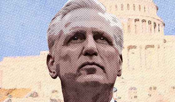 Kevin McCarthy on the Tight Rope Illustration by Greg Groesch/The Washington Times