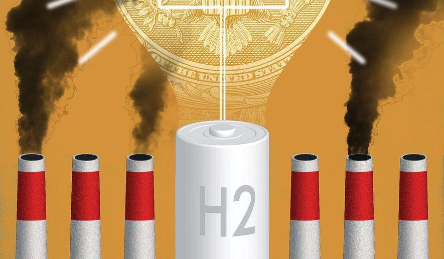 Unlocking Hydrogen Potential Illustration by Linas Garsys/The Washington Times