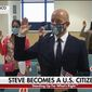 British-born Fox News host Steve Hilton took his oath to become a U.S. citizen in San Francisco on May 11. (Fox News)