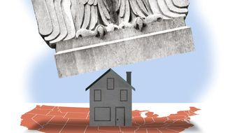 Illustration on the American Families Plan by Alexander Hunter/The Washington Times