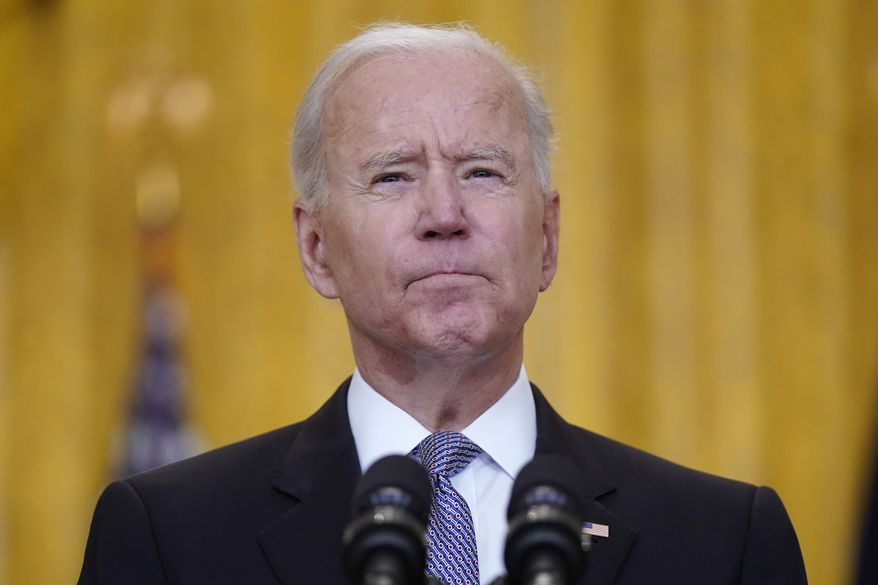 President Joe Biden speaks about distribution of COVID-19 vaccines, in the East Room of the White House, Monday, May 17, 2021, in Washington. (AP Photo/Evan Vucci)