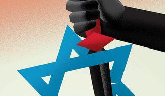 Islamic Republic's war on Israel illustration by Linas Garsys / The Washington Times