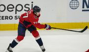 Washington Capitals right wing T.J. Oshie (77) in action during the second period of Game 2 of an NHL hockey Stanley Cup first-round playoff series against the Boston Bruins, Monday, May 17, 2021, in Washington. (AP Photo/Alex Brandon) **FILE**