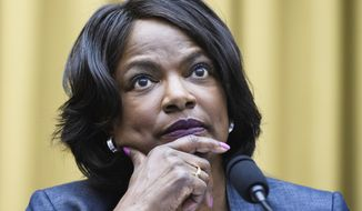 FILE - In this July 29, 2020 file photo, Rep. Val Demings, D, Fla., speaks during a House Judiciary subcommittee hearing on Capitol Hill in Washington. Demings is planning to challenge Florida Sen. Marco Rubio, giving Democrats a boost in a competitive 2022 race that could decide control of the Senate. (Mandel Ngan/Pool via AP)