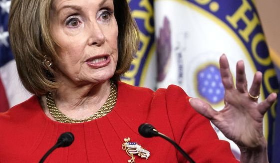 House Speaker Nancy Pelosi of Calif., speaks during a news conference on Capitol Hill in Washington, Thursday, May 13, 2021. (AP Photo/Susan Walsh)