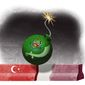 Illustration on Hamas and its support against Israel by Alexander Hunter/The Washington Times