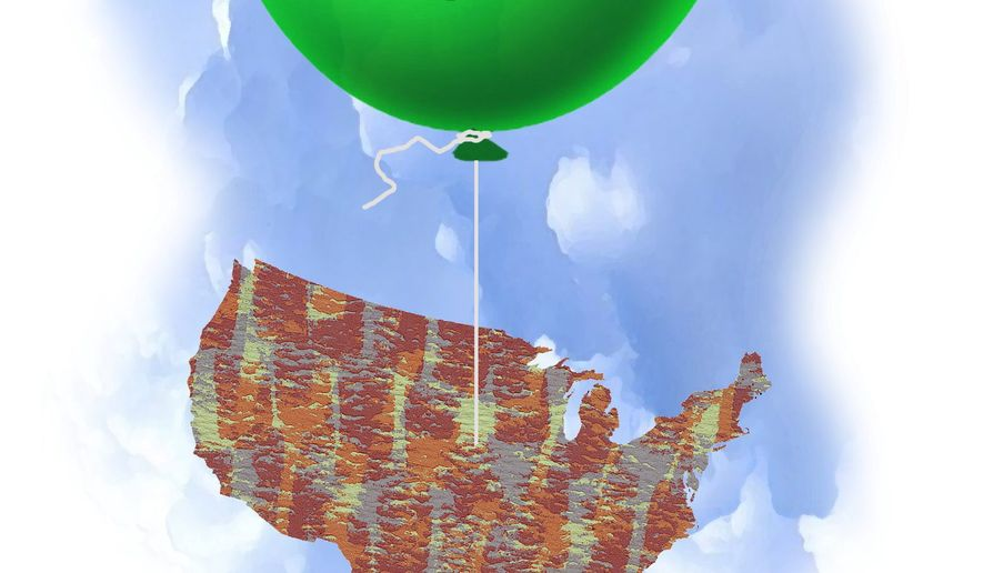 Inflation and the Federal Reserve illustration by The Washington Times
