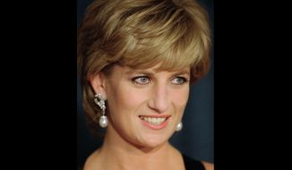 """In this Dec. 11, 1995, file photo, Diana, Princess of Wales, smiles at the United Cerebral Palsy's annual dinner at the New York Hilton. An investigation has found that a BBC journalist used """"deceitful behavior"""" to secure an explosive interview with Princess Diana in 1995, in a """"serious breach"""" of the broadcaster's guidelines. The probe came after Diana's brother, Charles Spencer, made renewed complaints that journalist Martin Bashir used false documents and other dishonest tactics to persuade Diana to agree to the interview. (AP Photo/ Mark Lennihan, File)"""