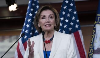 Speaker of the House Nancy Pelosi, D-Calif., speaks during a news conference on Capitol Hill in Washington, Thursday, May 20, 2021. (AP Photo/Jose Luis Magana) ** FILE **