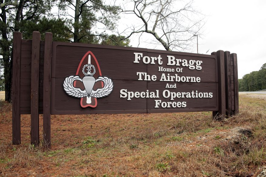 Prosecutors said Samuel Manu Agyapong, a former sergeant, was part of a larger fraud ring at Fort Bragg in North Carolina. (AP Photo/Chris Seward) ** FILE **