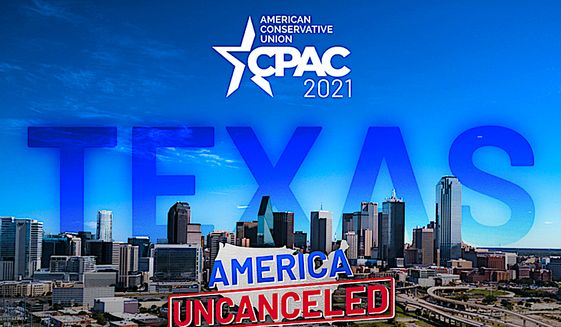 """The American Conservative Union is staging a second CPAC event of the years in Texas, keeping with their mission to push back on those who hope to """"cancel"""" conservative values and thinking. (Image courtesy of American Conservative Union."""