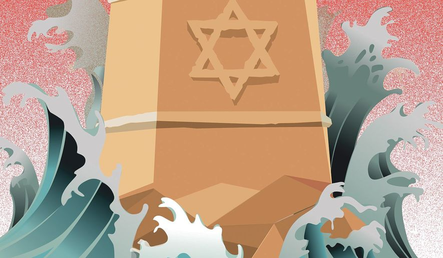 Illustration on the Middle East conflict by Linas Garsys/The Washington Times