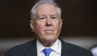 Frank Kendall III, President Joe Biden's nominee to be secretary of the Air Force, appears for his confirmation hearing before the Senate Armed Services Committee, at the Capitol in Washington, Tuesday, May 25, 2021. (AP Photo/J. Scott Applewhite) **FILE**