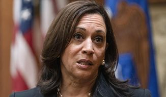 Vice President Kamala Harris speaks about the one year anniversary of the murder of George Floyd, after swearing in Kristen Clarke as assistant attorney general for civil rights, Tuesday, May 25, 2021, at the Justice Department in Washington. (AP Photo/Jacquelyn Martin)