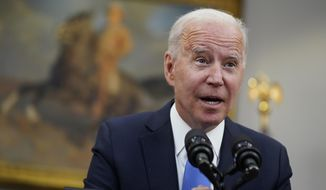 """In this May 13, 2021, photo, President Joe Biden speaks in the Roosevelt Room of the White House in Washington. Biden is asking U.S. intelligence agencies to """"redouble"""" their efforts to investigate the origins of the COVID-19 pandemic. After months of minimizing the possibility that the coronavirus emerged from a lab accident, the administration is responding to both U.S. and world pressure for China to be more open about the outbreak. Biden said Wednesday there is insufficient evidence to conclude """"whether it emerged from human contact with an infected animal or from a laboratory accident."""" (AP Photo/Evan Vucci) **FILE**"""