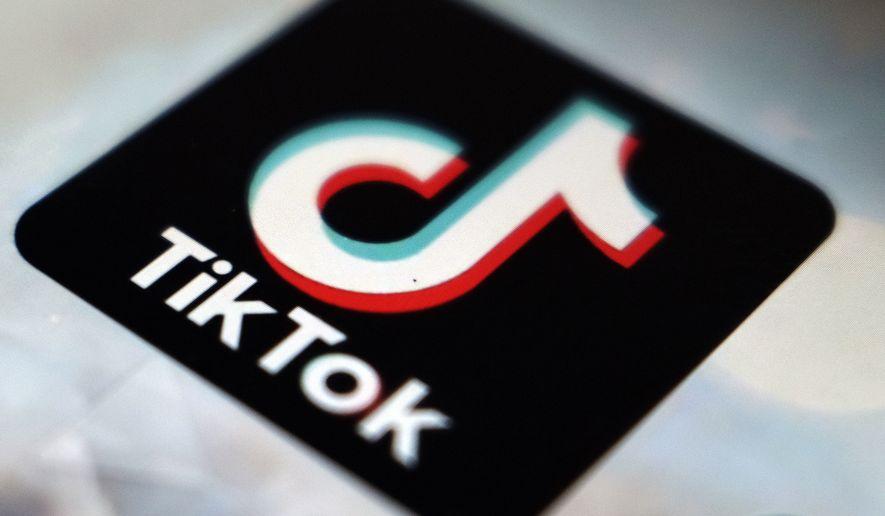 The TikTok app logo appears in Tokyo on Sept. 28, 2020. (AP Photo/Kiichiro Sato, File) ** FILE **
