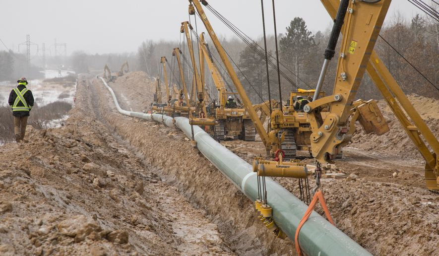 Enbridge Inc., a Canadian pipeline company, worked in 2021 to replace its aging Line 3 oil pipeline in Minnesota with a state-of-the-art model aimed at improving safety. (Photo courtesy of Enbridge)
