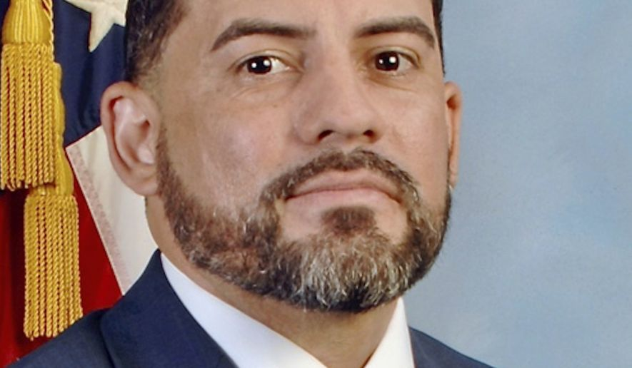 This image provided by defense attorney Robert Bonsib of MarcusBonsib, LLC, shows FBI agent Eduardo Valdivia, who has been charged with attempted murder in the off-duty shooting of another man on a Metro subway train last year in a Maryland suburb of Washington, D.C., according to court records unsealed Tuesday, June 1, 2021. Valdivia turned himself in to local authorities at a county jail Tuesday morning, according to Chief Deputy Maxwell Uy of the Montgomery County Sheriffs Office. (MarcusBonsib, LLC via AP) **FILE*