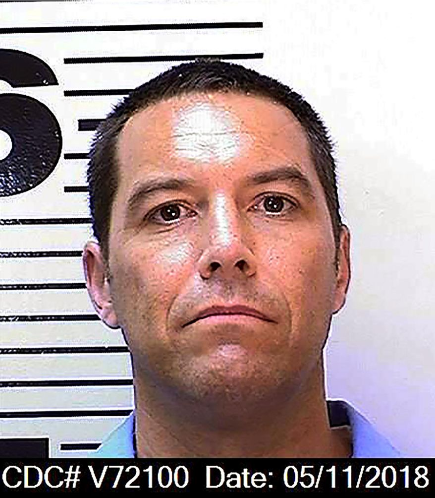 This May 11, 2018, file photo, provided by the California Department of Corrections and Rehabilitation shows Scott Peterson. California prosecutors said Tuesday, June 1, 2021, that they won't again seek the death penalty against Scott Peterson in the 2002 slaying of his pregnant wife even if he is granted a new trial based on juror misconduct. (California Department of Corrections and Rehabilitation via AP, File)