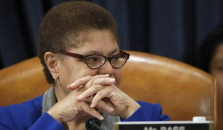 Rep. Karen Bass, California Democrat and chairwoman of the House Foreign Affairs subcommittee on Africa, global health and global human rights, stressed that, moving forward, U.S. policy toward Africa should be more about trade and investment, less about aid. (AP Photo/Alex Brandon, File)