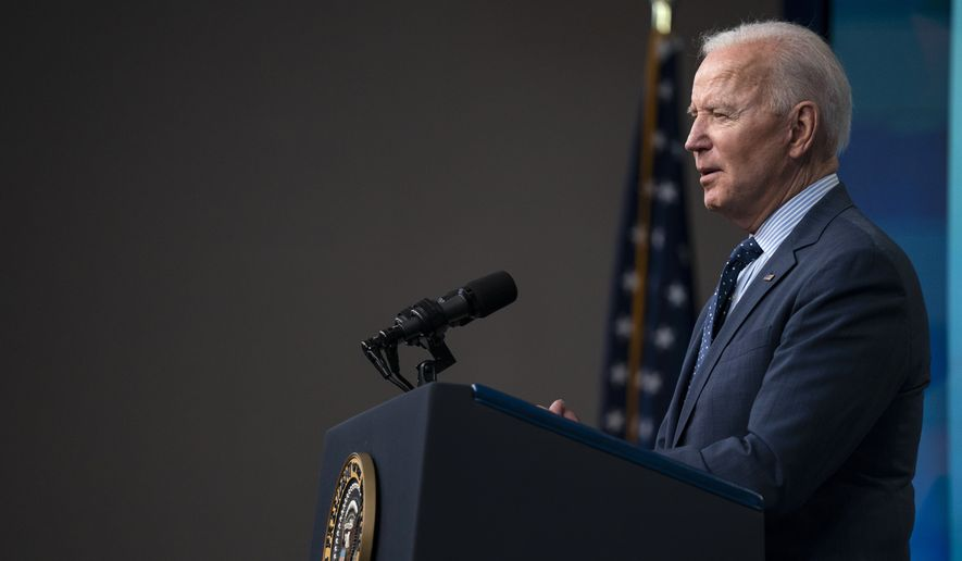 President Joe Biden speaks about the COVID-19 vaccination program, in the South Court Auditorium on the White House campus, Wednesday, June 2, 2021, in Washington. (AP Photo/Evan Vucci) **FILE**