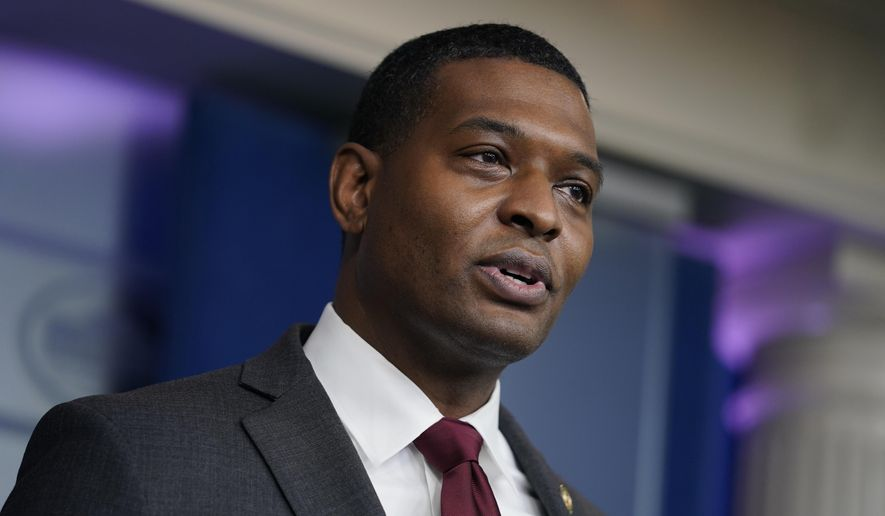 In this May 12, 2021, file photo, Environmental Protection Agency administrator Michael Regan speaks during a press briefing at the White House in Washington. (AP Photo/Evan Vucci, File)