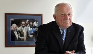 Famed defense attorney F. Lee Bailey poses in his office in Yarmouth, Maine. In the O.J. Simpson murder trial, Bailey was the lawyer who played a key role in exposing racist statements made by one of the prosecutions key witnesses, police Detective Mark Fuhrman, undermining Fuhrmans credibility. (AP Photo/Robert F. Bukaty, File)